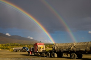 Rainbow over Coldfoot, Alaska
